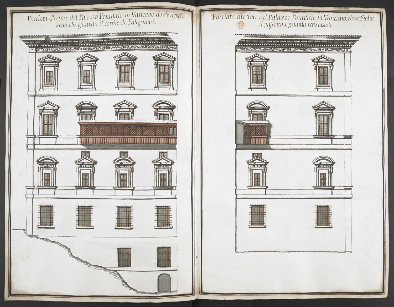 facciata esteriore del palazzo pontificio in vaticano dov u0027e il